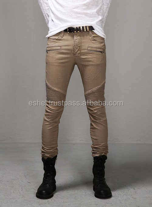 new style fashion slim fit distressed biker jeans for men biker jeans