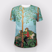 best design on shirt, sublimated printing,pure cotton