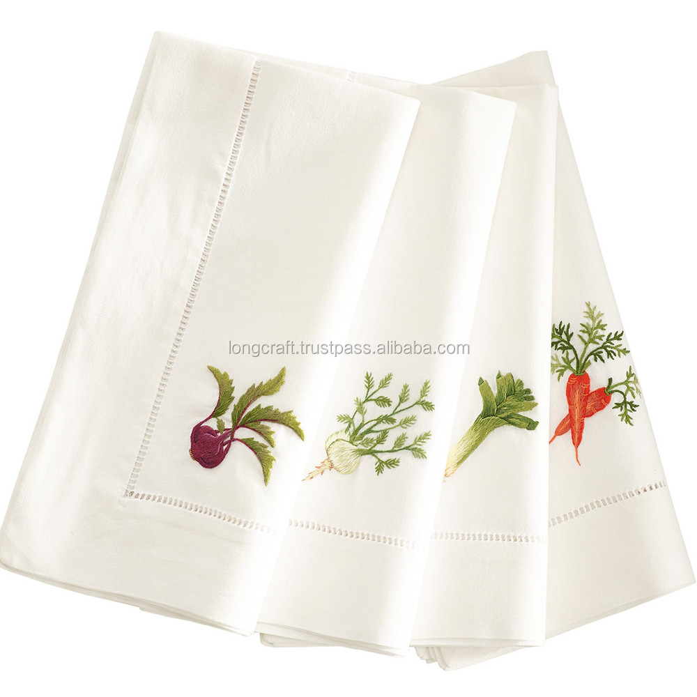 Hand embroidery cotton napkins no.38