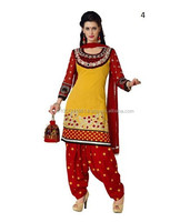 Heavy Designer Salwar Suit | Embroidered Punjabi Neck Design Suits | Salwar Kameez Punjabi Suit