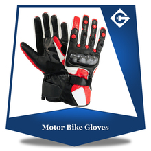 Anti slip Motorbike Leather Gloves