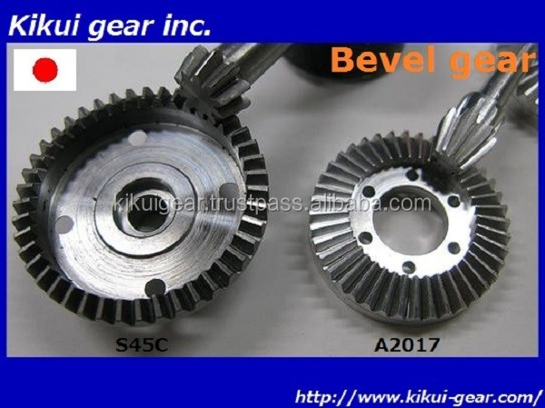 Japanese and Eco-friendly aluminum bevel gears for industrial use , Other gear and Pully also available