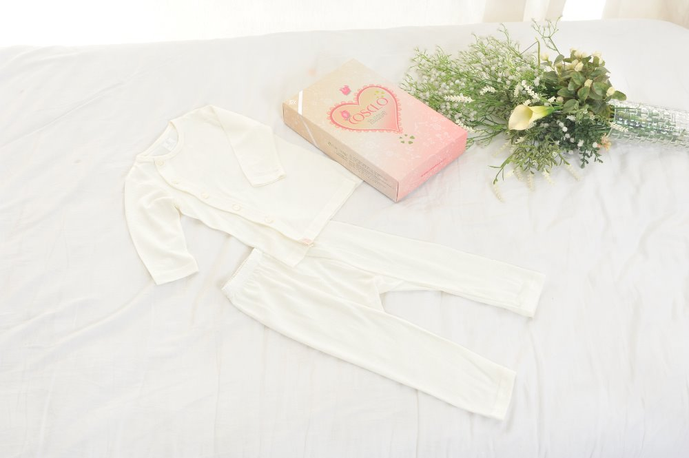 Natural Baby Clothes Set(2piece) made by Korean-Paper Yarn