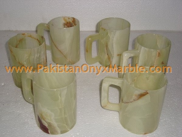 POLISHED ONYX COFFEE CUPS OR MUGS HANDICRAFTS