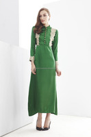 Half Button Lace Design Jubah Dress