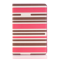 IMPRUE New Stripe design leather case with wallet credit holder for apple ipad pro