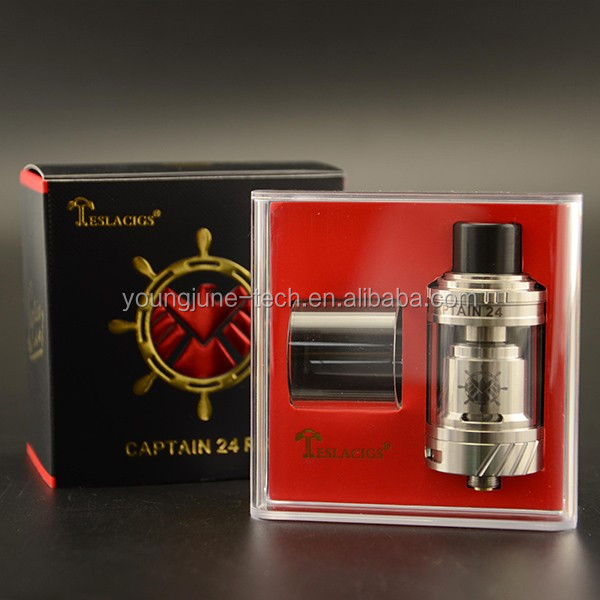 Two Vertically SS316 Coils Captain 24 RTA from Teslacigs