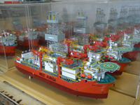 scale ship detailing model