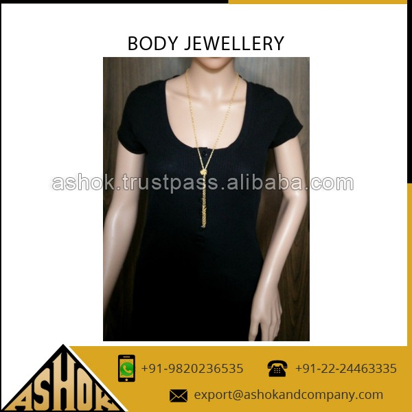 Attractive Design Hot Selling Body Jewelry at Competitive Rate/Gold & Silver Body Chain Jewelery