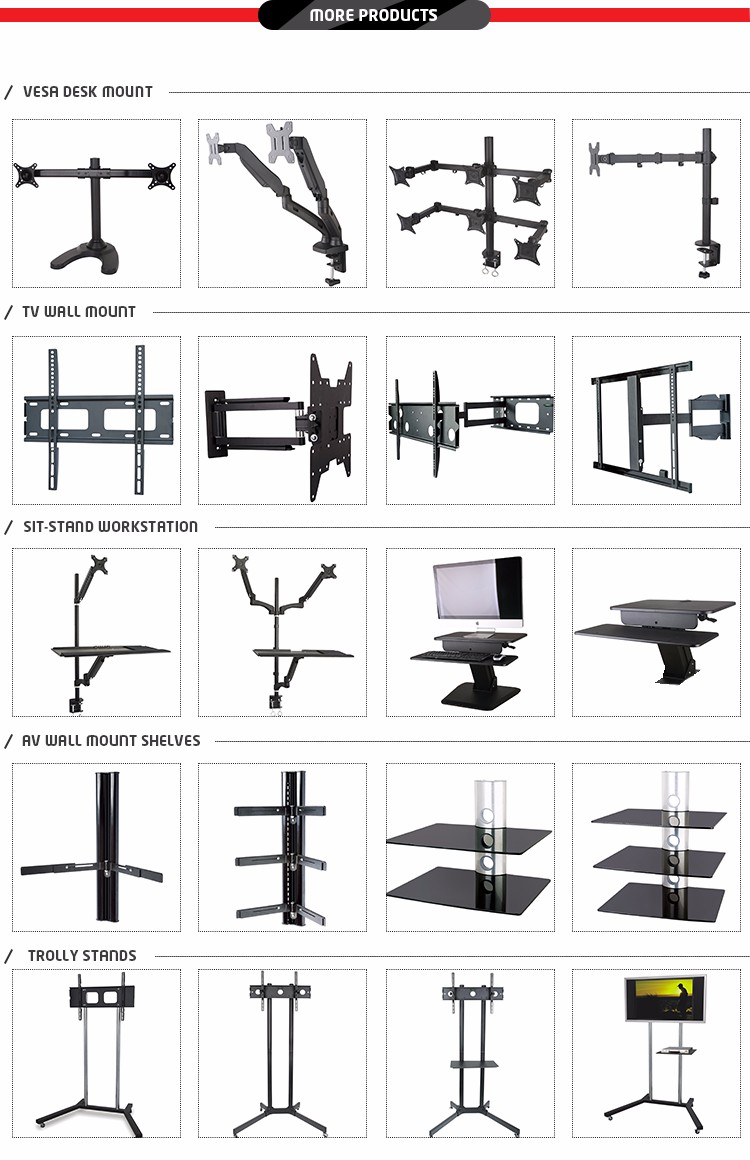 Computer Display Rotating Flexible Swing Arm Clamp Mount