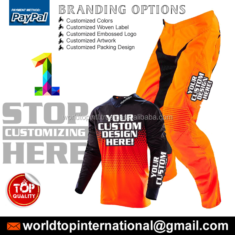Professional MX Rider Fox Suit / High Quality Motocross Jersey/Pant/Gloves Made By Road Runners