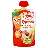 Cow&Gate Savoury Pouch CARROT POTATO BEEF 7x100g