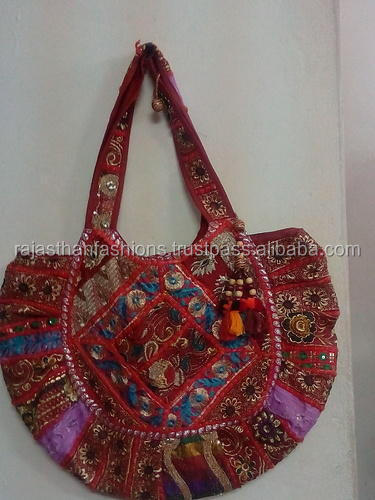 Bohemian Handmade Cotton Vintage Indian Multicolored Women Handbag Embroidered Shoulder Bags