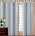 WOODEN COTTON STRIPE CURTAIN / DIFFERENT TYPE OF EYE LITE STRIPED CURTAIN