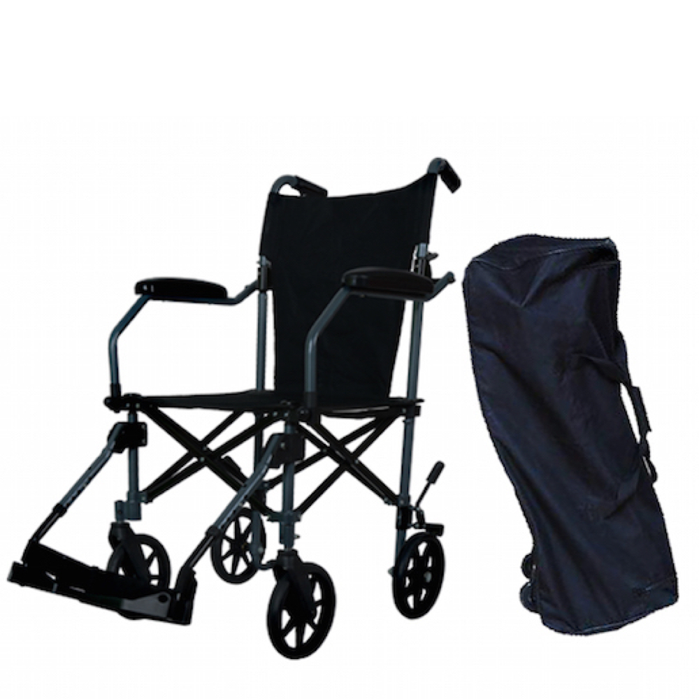Wheelchair88 . MW-90UL . Travelite Foldable Transport Wheelchair in a Trolley Bag