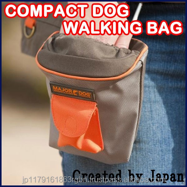 Fashionable and Functional dog walking pouch with pocket and hook created by Japan