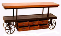 Retro Timber TV Unit, Recycled TV Stand, industrial Media unit
