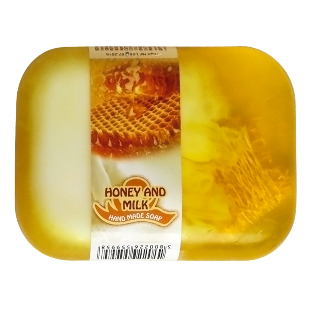 Hand made glycerin soap - Honey and milk 60 gr.