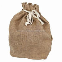 Custom small drawstring jute jelewry pouch bags with custom printing