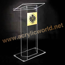 Custom cheap Plexiglass acrylic conference lectern podium