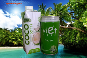 Coconut water can/carton with screw cap , Ben Tre's specialty/ pure coconut water