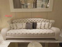 Luxurious New Model Design Dubai Tufted Leather Sofa Set Price Usd 900