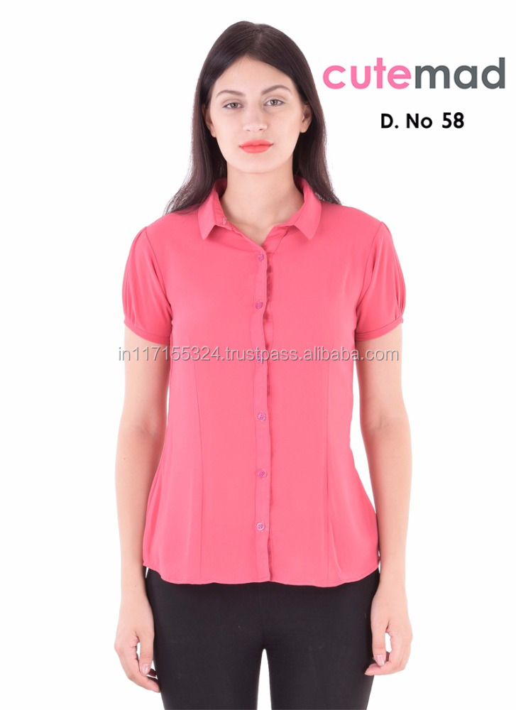 2016 Latest design women plain fashionable shirt - Online wholesale shop