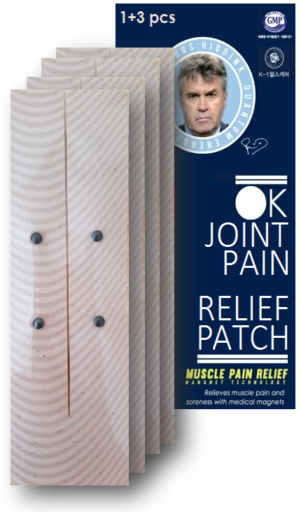 OK Joint Pain Relief Patch x 4 long separable magnet patches ( Guus Hiddink magnetic pain relief patch , joint pain )