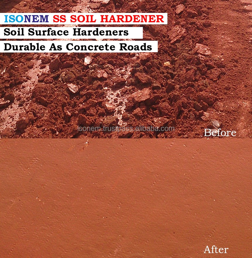 SOIL STABILIZER AND DUST CONTROL AGENT, EROSION CONTROL, SOIL HARDENER