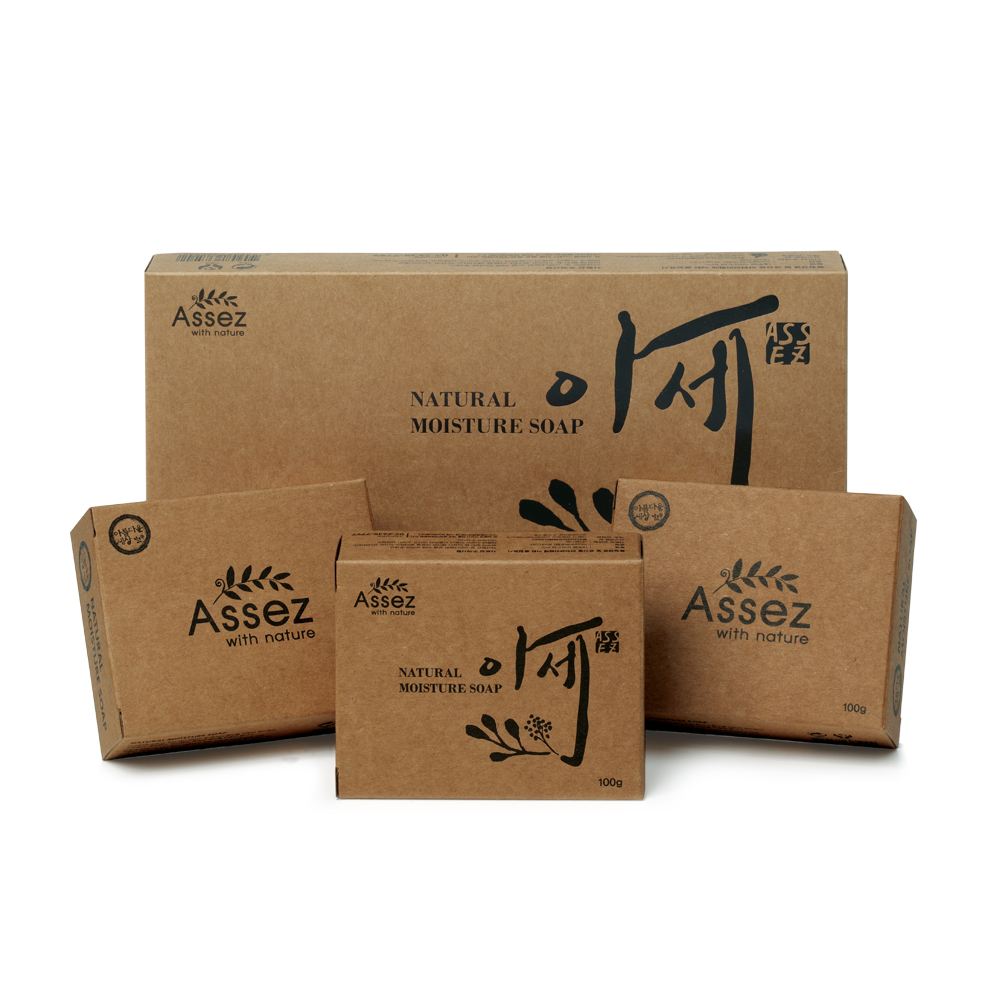 Assez Moisture Soap ( 100g x 3ea ) Soothing Skin Natural Ingredients Bar Coconut