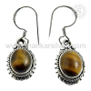 2016 Eco friendly 925 Sterling Silver Tiger Eye Earring Manufacture Jaipur Silver Jewelry Online