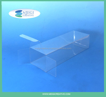 Clear Plastic Folding Box, Food Safe Plastic Box with Tuck In Sides