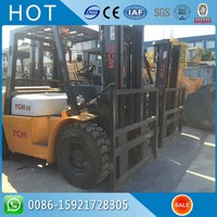 Two Stage Mast 3 Meter Lifting FD50T9 2013 Year TCM Used Forklift 5 Ton