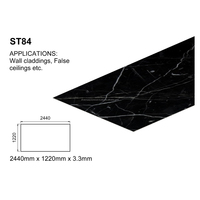 Interior Wall Decoration 8*4 PVC Marble Sheets 3.3 MM