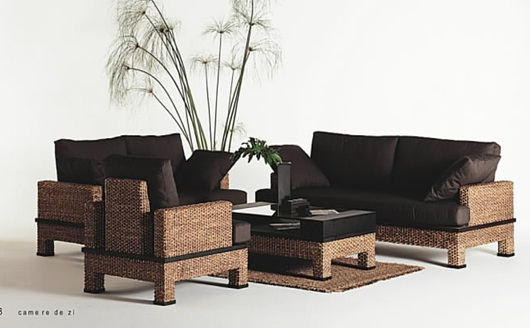 Hot elegant sofa set, best selling soffa set 2016, water hyacinth sofa set