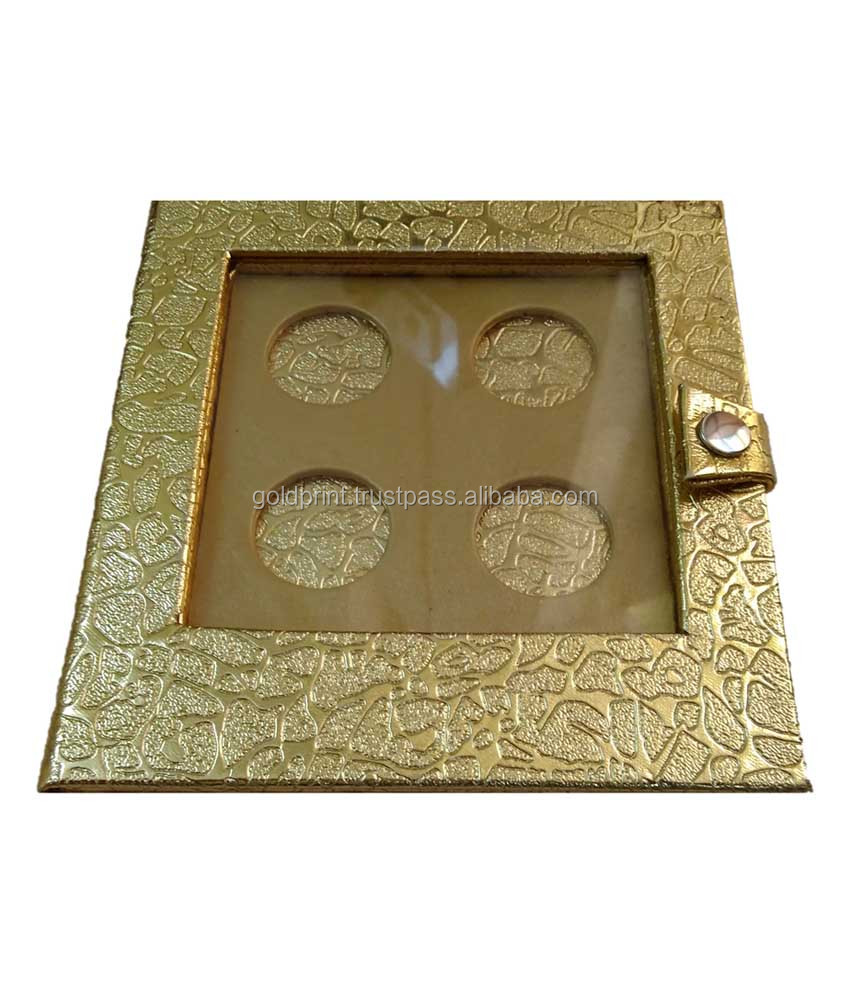 Goldprint Leather Finish Wooden Coin Box GPWCB18016 - 4 Coins