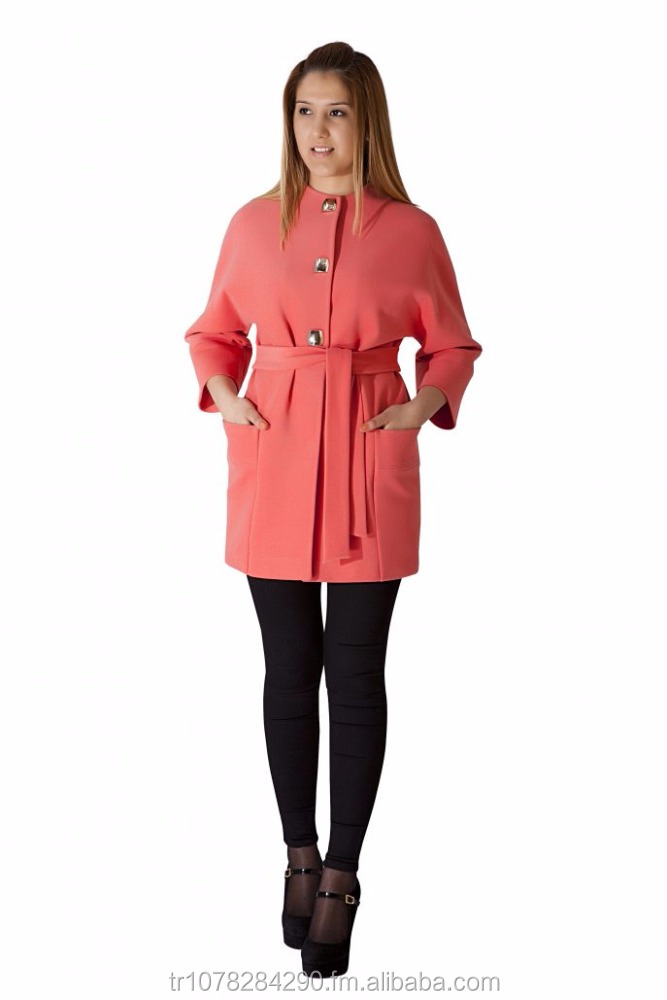 So Chic New Fashion Woman Pink Coat High Quality Best Price From Turkey