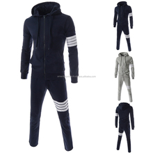2016 fashion design mens plain hoodies wholesale customized autumn fleece sweat suits