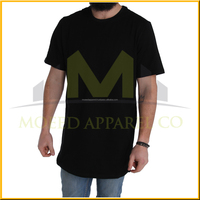 custom branded tshirts with curved hem and split back printing tall t-shirts wholesale china import t