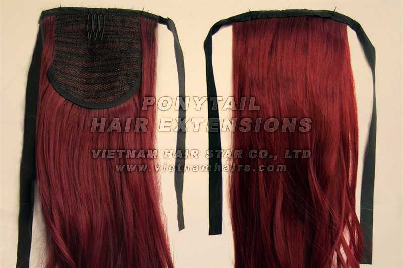 Vietnam Hair Star No Tangle No Shed Dyeable 100% Virgin Color Water Waves Brazilian Ponytail Human Hair Extention