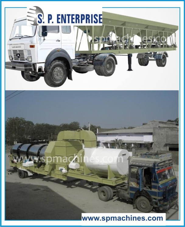 50 tons per hour Mobile Asphalt Drum Mix Plant used in Road Construction