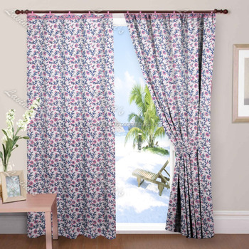 Designer handmade cotton hand block printed window treatment home decorative door valance dorm decor sliding drapery curtain