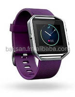 FIT-BIT BLAZE SMART FITNESS WATCH, PLUM, SILVER, SMALL
