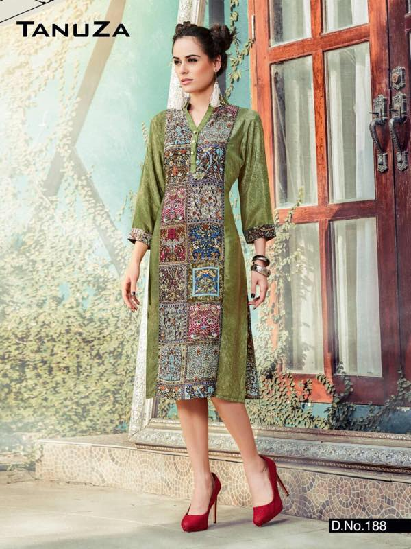 Tanuza Fancy One Piece Kurti Kurta For Women
