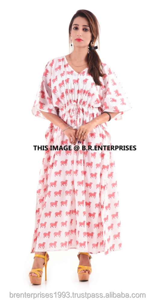 New Arrival Summer Embroidery Cotton Beach Kaftans For Woman&girls