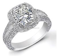 Genuine Round Brilliant Cut Diamond Beautiful Engagement Ring made in White Gold