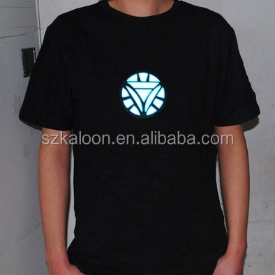 Music Activated EL Equalizer LED T-Shirt 3D