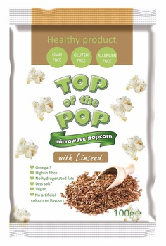 Snack food Microwave Popcorn with Linseed