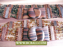 handmade design bead wood belt buckle clasps stretch wholesale