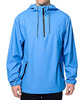 light blue waterproof Rain Jacket with Two bonded waterproof zipper pockets